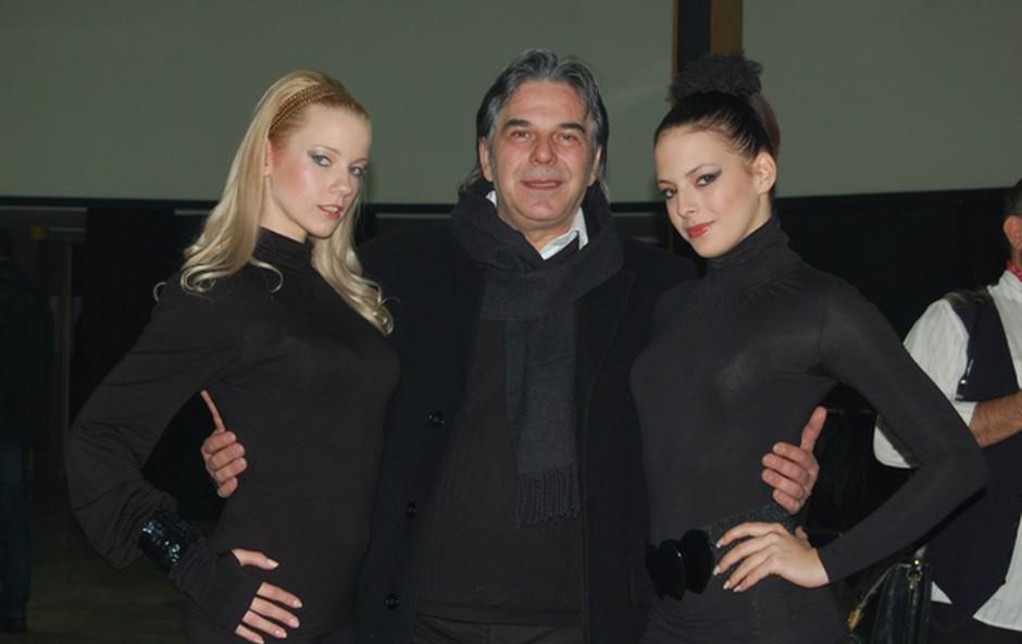 Obe slovenski lepotici, Taya in njena plesalka Saša, sta uživali tudi ob pogovru z legendo Davorjem Radolfijem. (foto: DonFelipe)