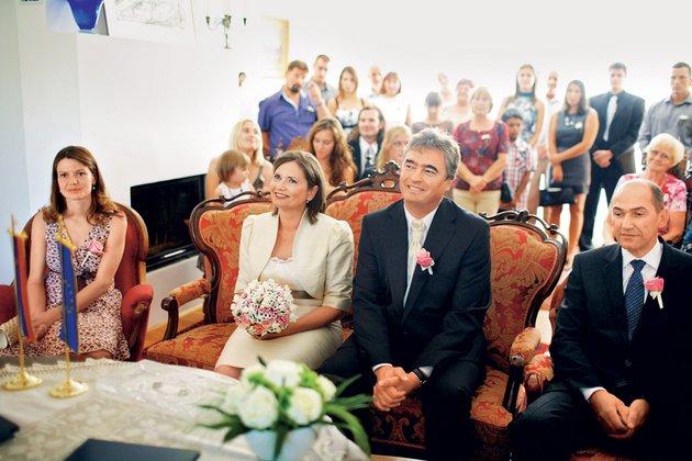 Urška Bačovnik Janša, Andreja Valič, Milan Zver in Janez Janša