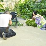 Fotografiranje z Evo je potekalo v ljubljanskem Botaničnem vrtu. (foto: DonFelipe)