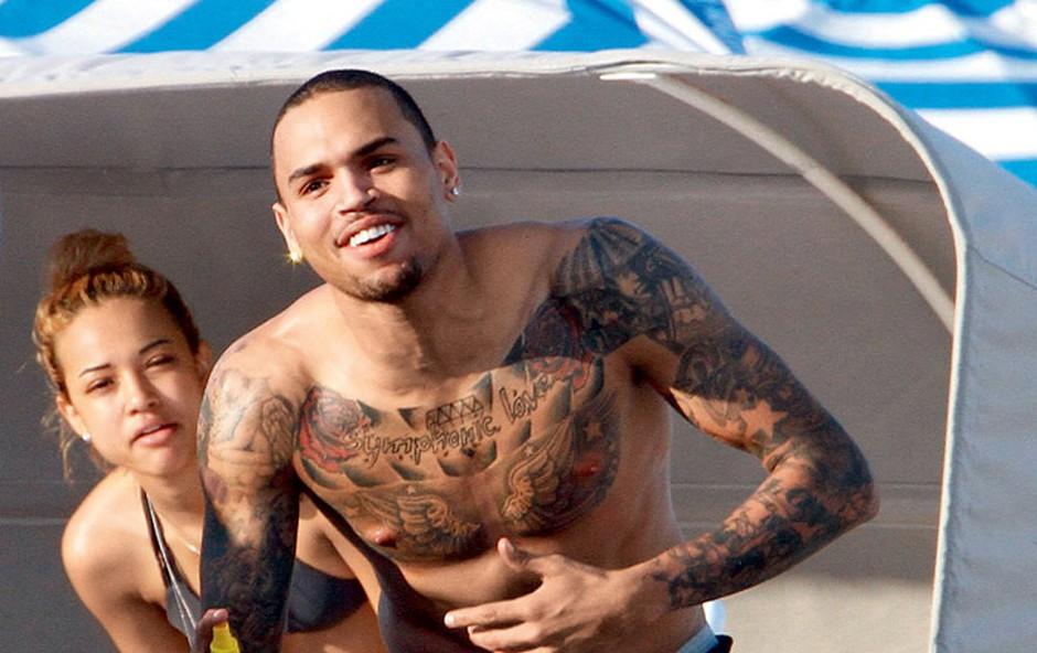 Chris Brown in Karrueche Tran (foto: Profimedia.si)