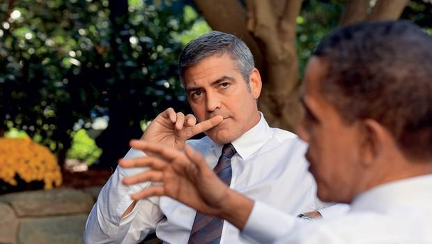 George Clooney je znan po politični angažiranosti, z Barackom Obamo pogosto skupaj opozarjata na svetovne težave. (foto: Profimedia.si)