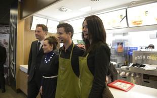 Romih in Banićeva v McDonald'su pripravljala zajtrke