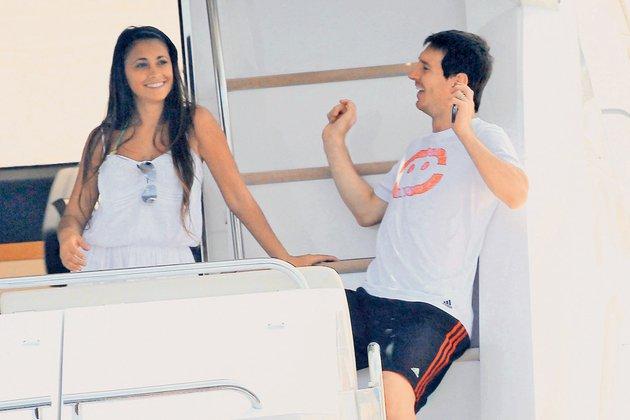 Antonella Roccuzzo in Lionel Messi