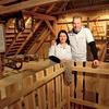 Erika in Damijan sta ponosna na lepo urejen muzej stare kmečke opreme in orodja.