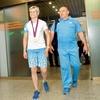 Urška Žolnir in trener Marjan Fabjan