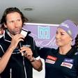 Tina Maze in Andrea Massi: Poljub  pred celim svetom