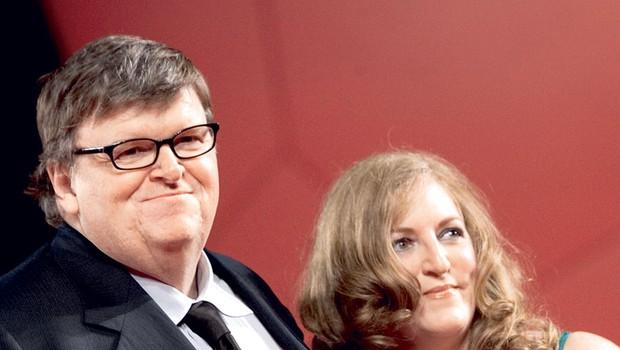Michael Moore in Kathleen Glynn (foto: Profimedia)
