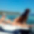 Stančka Šukalo na morju s Tabitom