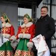 Rusko pustovanje na Pogačarjevem trgu v Ljubljani