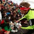 Otroci Triglava na Pokljuki navijali za naše biatlonce