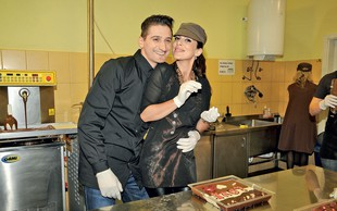 Znani za svoje ljubljene izdelali čokoladne umetnine