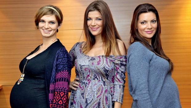 Jasna Kuljaj, Tjaša Perko in Teja Britovšek tudi o seksu med nosečnostjo (foto: Helena Kermelj)