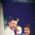 Jasna in Saša z nečakom, ki živi v Beogradu. (foto: Metka Skrt, osebni arhiv)