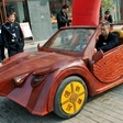 Izjemno! Doma izdelan lesen avto, ki ga poganja elektrika!
