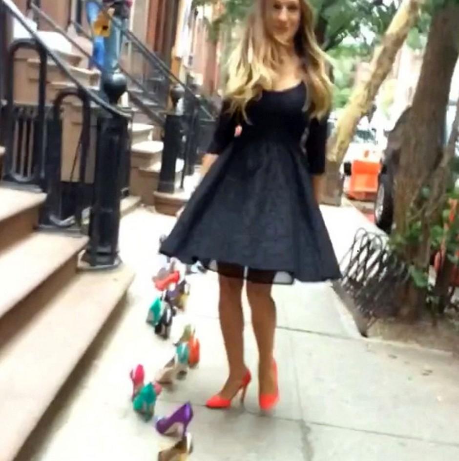 Zvezdnica serije Seks v mestu se rada baha z novimi čevlji (foto: profimedia)