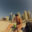 Luka Božič uživa v Arabskih Emiratih
