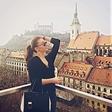 Anja Jenko na izletu v Bratislavi