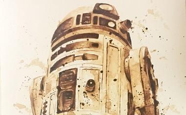 Izjemna slikarka namesto z barvo slika s kavo!
