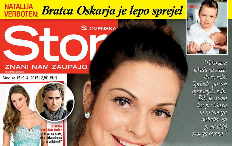 Story o tem, kako je Natalija Verboten jokala od sreče! (foto: Story)