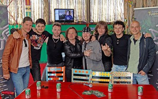 Šank Rock sredi priprav na koncert v Križankah