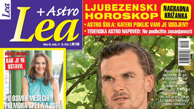 Sebastijan Studenčnik iskreno o pretresljivem otroštvu za novo Leo!