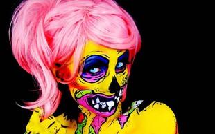 Neonsko-stripovske maske za noč čarovnic!