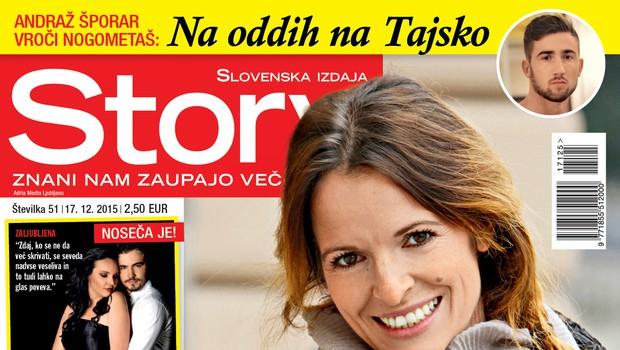 Alenka Gotar je noseča, med drugim piše nova Story