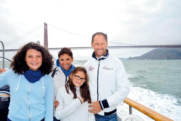 """""""V San Franciscu so si poleg znamenitega zapora Alcatraz seveda ogledali tudi viseči most Golden Gate, ki so ga komaj fotografirali, saj so ga vseskozi zakrivali oblaki."""" (foto: osebni arhiv)"""