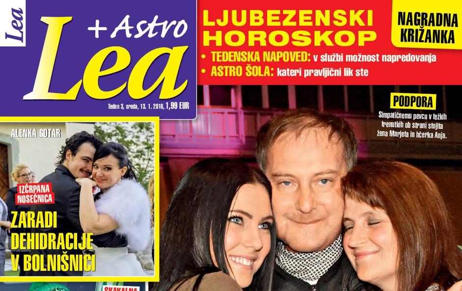 Tomaž Ahačič Fogl ni in ne bo izgubil upanja, piše nova Lea! (foto: Lea)