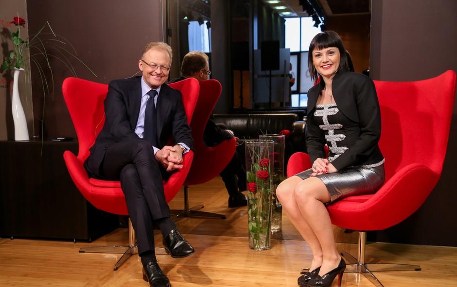 Direktorica podjetja Lin&Nil Andreja Jernejčič in direktor podjetja Riko Janez Škrabec v Zajtrku PR'Andreji o uspehu. (foto: Barbara Reya)