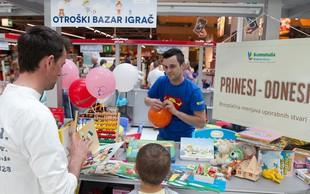 Otroški bazar, na katerem tisti, ki da, tudi dobi!