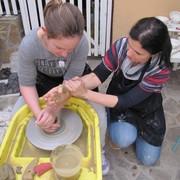 Lončarska delavnica z vretenom Barbare Dacar