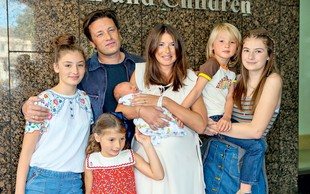 Jamie Oliver že petič postal očka