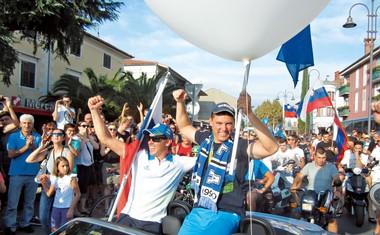 Vasilij Žbogar: Veličasten sprejem