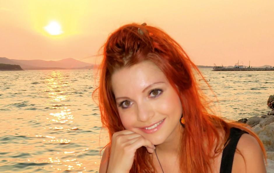 Tanja Žagar: Z ekipo na Pašmanu (foto: osebni arhiv)