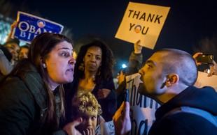 V spopadih med nasprotniki in podporniki Trumpa posredovala tudi policija!