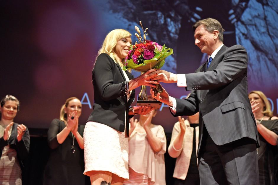 (Foto in video) utrinki s slovesne razglasitve Slovenke leta 2016 (foto: Igor Zaplatil)