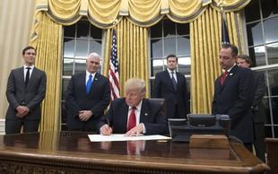 Zavese Bele hiše so že v Trumpovi zlati barvi!