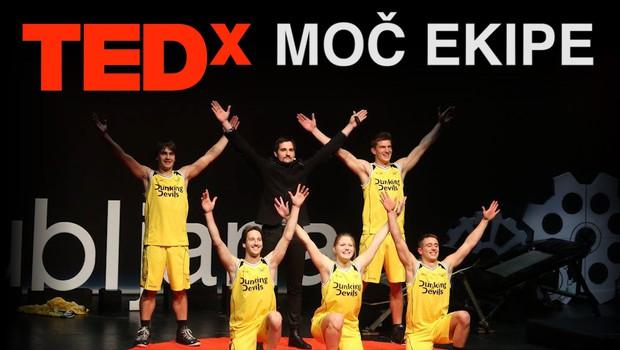 Moč ekipe in skrivnost uspeha Dunking Devils tudi na TEDxLjubljana! (foto: TED)