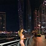 Tina Gaber je s fantom odpotovala v Dubaj (foto: osebni arhiv)