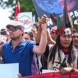 Leonardo DiCaprio na protestu za okolje v Washingtonu