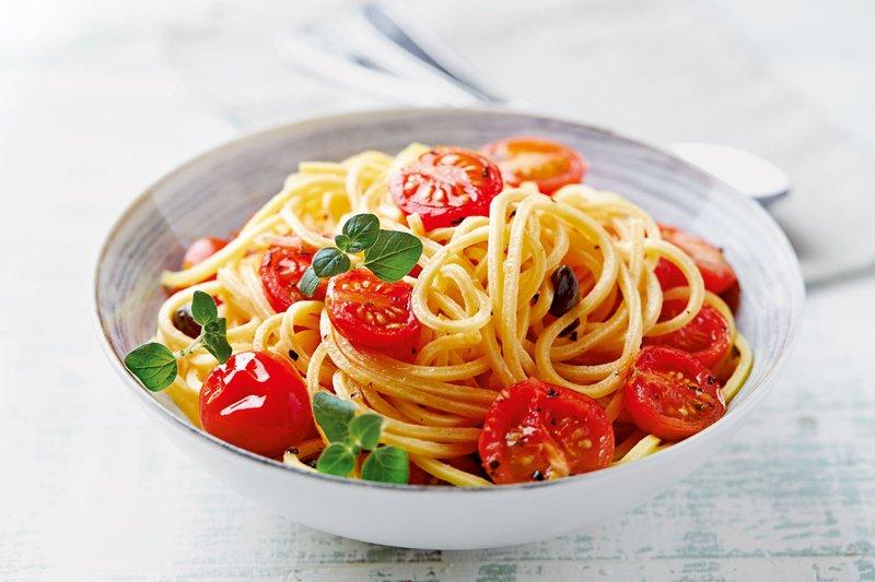 špageti, paradižnik