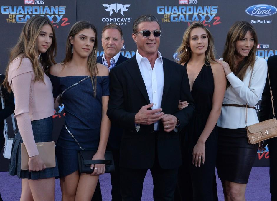 Sylvester Stallone z ženo in hčerami (foto: profimedia)