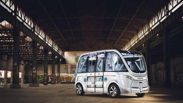 Tehnološka senzacija na Dunaju: električni avtobusi brez voznika (foto: Pierre Salome)