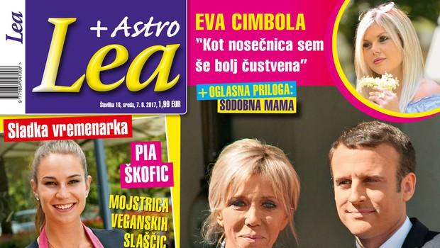 Emmanuel in Brigitte Macron - sodobna Romeo in Juliji! Več v Lei! (foto: Lea )