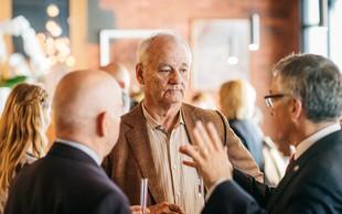 Restavracija Atelje gostila Billa Murraya na ekskluzivnem druženju s Slovenia vodko