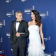 George in Amal Clooney: Ponosna starša dvojčkov Elle in Alexandra