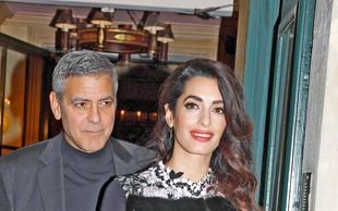 George in Amal Clooney: Četa varnostnikov za dvojčka