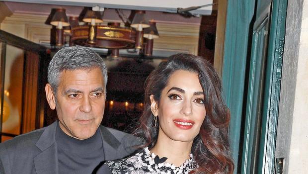 George in Amal Clooney: Četa varnostnikov za dvojčka (foto: Profimedia)