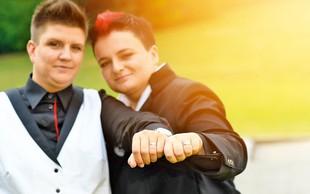 Novoporočenki Martina Ipša in Janja Zdolšek o poroki: Bilo je zelo čustveno